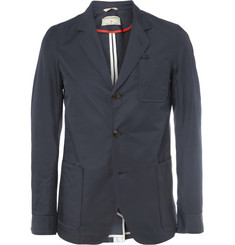 Oliver Spencer Vulpine Cycling Shower-Proof Cotton-Blend Blazer