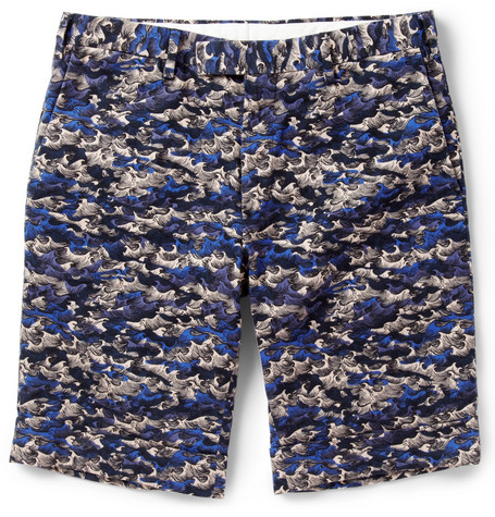 Gant Rugger Slim-Fit Wave-Print Cotton Shorts