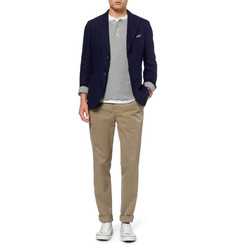 Gant Rugger Waffle-Knit Cotton-Blend Henley T-Shirt