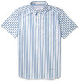 Gant Rugger - Striped Cotton-Oxford Half-Placket Shirt