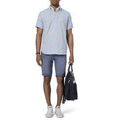 Gant Rugger Striped Cotton-Oxford Half-Placket Shirt