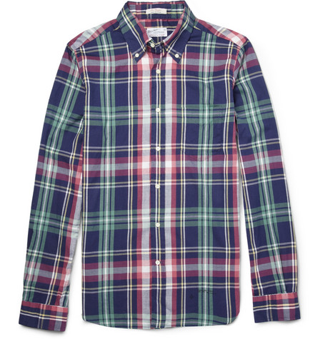 Gant Rugger Slim-Fit Madras Plaid Brushed-Cotton Shirt
