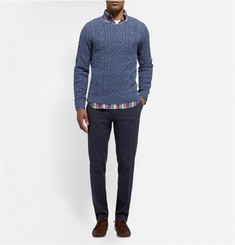 Gant Rugger Cable-Knit Mélange Cotton Sweater