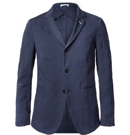 Gant Rugger Navy Slim-Fit Cotton-Blend Suit Jacket