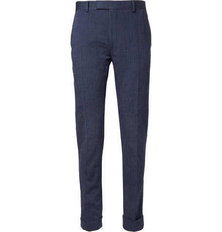 Gant Rugger Navy Slim-Fit Cotton-Blend Suit Trousers
