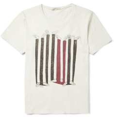 Nudie Jeans Printed Organic Cotton-Jersey T-Shirt