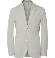 Hardy Amies Slim-Fit Unstructured Washed Cotton-Twill Blazer