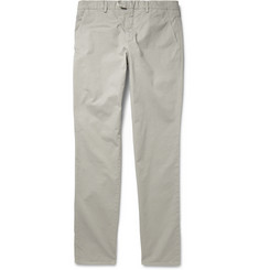 Hardy Amies Slim-Fit Washed Cotton-Twill Trousers