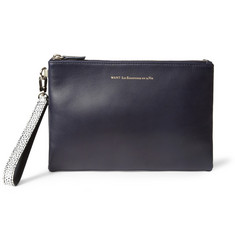 WANT Les Essentiels de la Vie Barajas Leather Double-Compartment Pouch