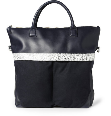 WANT Les Essentiels de la Vie O'Hare II Leather-Trimmed Organic Cotton-Canvas Tote Bag