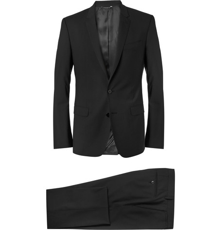 Dolce & Gabbana Black Martini Slim-Fit Wool-Blend Suit