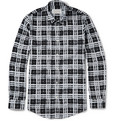 Maison Margiela Slim-Fit Stenciled-Check Cotton Shirt