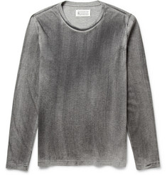 Maison Martin Margiela Long-Sleeved Washed Cotton-Jersey T-Shirt