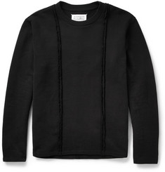 Maison Martin Margiela Exposed-Seam Cotton-Jersey Sweatshirt