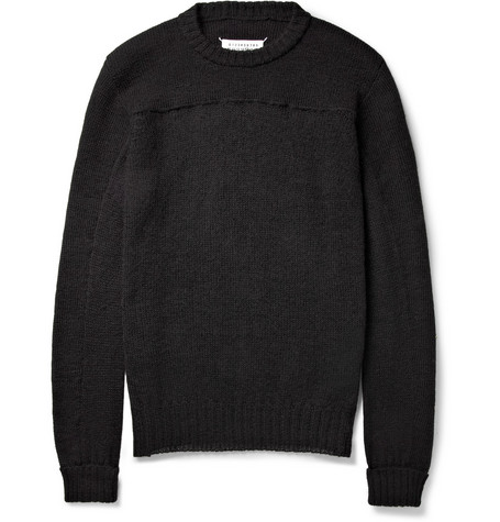 Maison Martin Margiela Knitted Wool and Alpaca-Blend Sweater