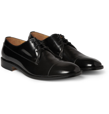 Maison Martin Margiela High-Shine Leather Derby Shoes
