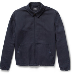 A.P.C. Woven Linen and Cotton-Blend Bomber Jacket