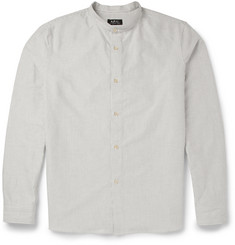 A.P.C. Grandad-Collar Cotton Oxford Shirt