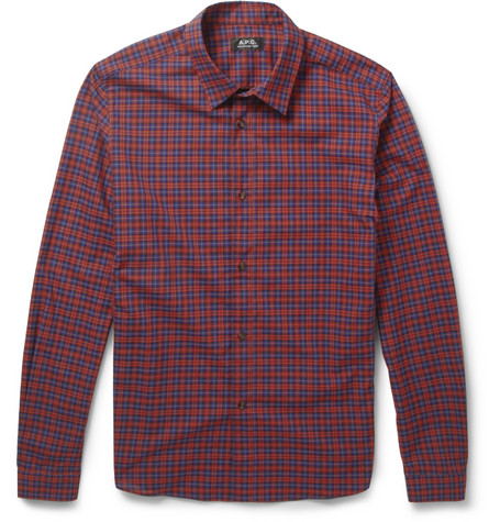 A.P.C. Checked Cotton Shirt