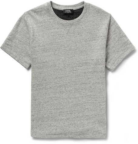 A.P.C. Loopback Cotton-Jersey Short-Sleeved Sweatshirt