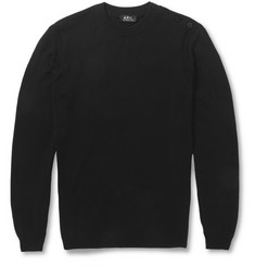 A.P.C. Shoulder-Buttoned Cotton Sweater