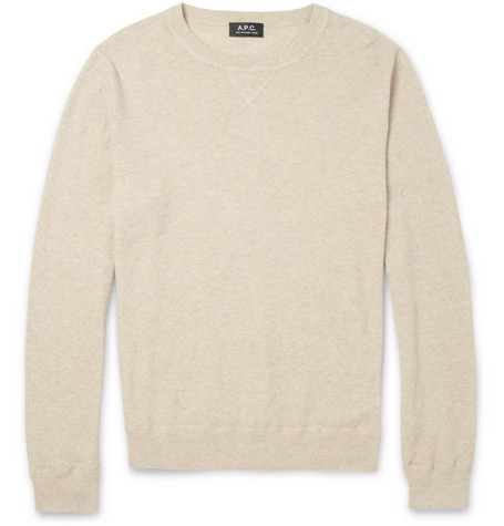 A.P.C. Textured Cotton and Cashmere-Blend Sweater