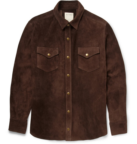 Billy Reid Suede Shirt