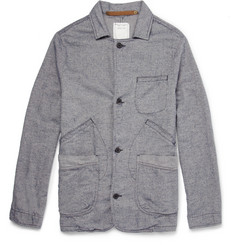 Billy Reid Unstructured Herringbone Cotton Blazer