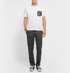 Marc by Marc Jacobs Snake-Printed Patch Pocket Cotton-Jersey T-shirt