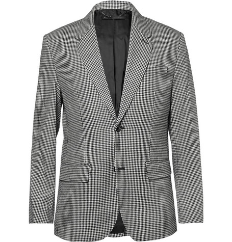Marc by Marc Jacobs Check Silk and Wool-Blend Suit Jacket