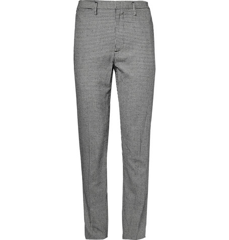 Marc by Marc Jacobs Check Regular-Fit Silk and Wool-Blend Suit Trousers