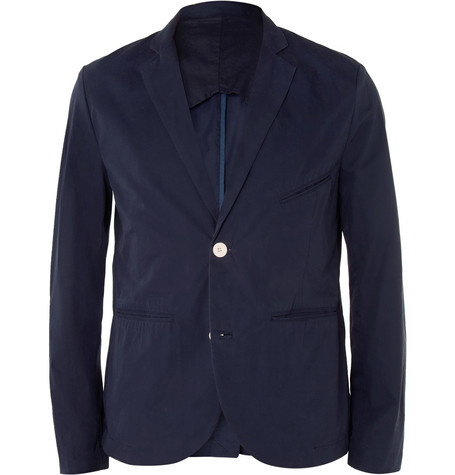 Folk Navy Slim-Fit Cotton Suit Jacket