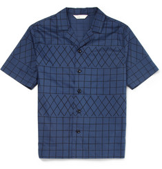 Folk Printed Cotton Short-Sleeved Shirt