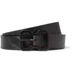 Maison Martin Margiela Black 2.5cm Textured-Leather Belt