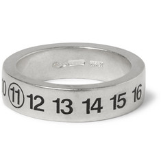 Maison Martin Margiela Engraved Sterling Silver Ring