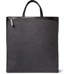 Maison Martin Margiela Leather and Felt Tote Bag