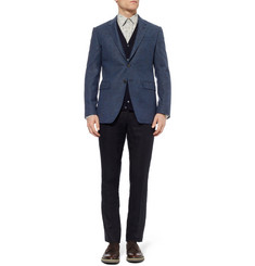 Paul Smith London Byard Flecked Herringbone Wool Blazer
