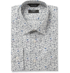 Paul Smith London Cream Flower-Print Cotton Shirt