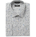 Paul Smith London - Cream Flower-Print Cotton Shirt