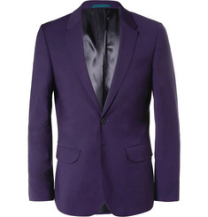 PS by Paul Smith Purple Slim-Fit Wool-Blend Suit Jacket