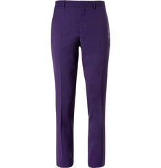 PS by Paul Smith Purple Slim-Fit Wool-Blend Suit Trousers