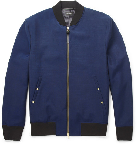 PS by Paul Smith Lightweight Wool and Mohair-Blend Bomber Jacket