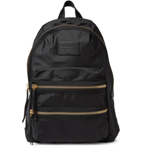 Marc by Marc Jacobs Leather-Trimmed Nylon Backpack