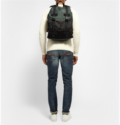 Marc by Marc Jacobs Two-Tone Canvas and Shell Backpack