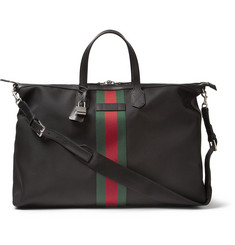 Gucci Leather and Nylon Duffle Bag
