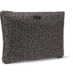 Gucci Leopard-Print Leather Pouch