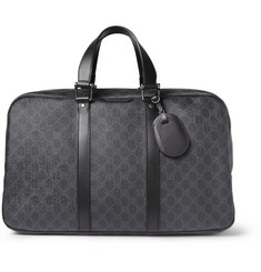 Gucci Leather-Trimmed Printed Holdall Bag
