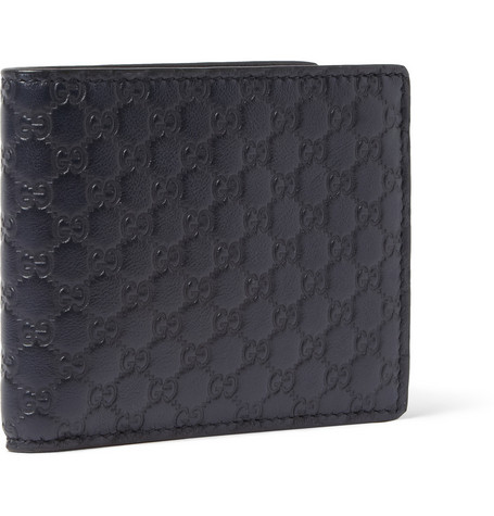 Gucci Embossed Leather Billfold Wallet