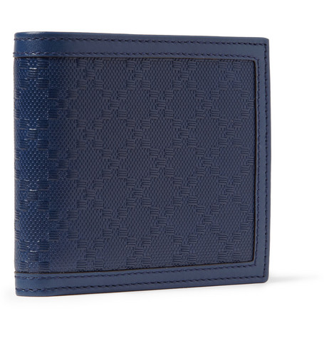 Gucci Diamond-Embossed Leather Billfold Wallet