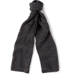 Gucci Ribbed-Knit Wool and Cashmere Scarf